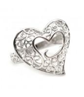 Prsteň srdce - striebro - K1R1619