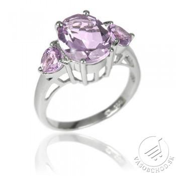 Originálny strieborný prsteň s polodrahokamom Ametyst - RSG36204A