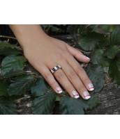 Dámsky prsteň s prírodným Iolitom a zirkónmi RSG36087I
