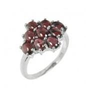 Strieborný luxusný prsteň s červeným pravým Granátom - RSG36363