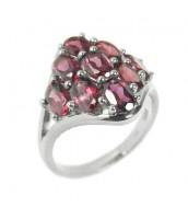 Strieborný atraktívny prsteň s polodrahokamom Granát - RSG36334
