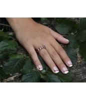 Strieborný prsteň prírodný polodrahokam Granát - RSG36112G
