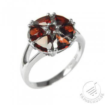Dámsky prsteň s prírodným Granátom RSG36051G