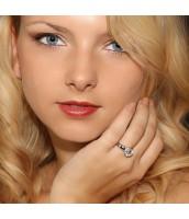 Elegantný strieborný prsteň so Swarovski Zirconia - JJSR6732