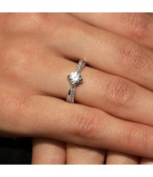 Strieborný originálny prsteň Florence so Swarovski Zirconia - SHZR302
