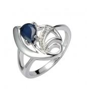 Strieborný prsteň s prírodným Zafírom DESIRÉ FNJR0673