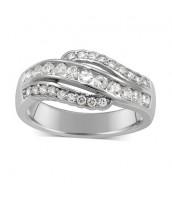 Elegantný strieborný prsteň FLARE JJJR0154