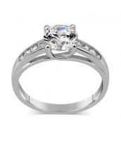 Strieborný prsteň EXCLUSIVE so Swarovski. da0cdfc8c17