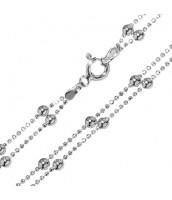 Strieborný guľôčkový náhrdelník ROBBY BMBBB400