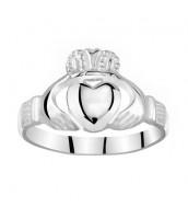 Dámsky celostrieborný prsteň Claddagh - ZTR96391
