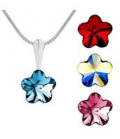 Prívesok zo striebra s krištálom Swarovski® Crystals kvetina 10mm - VSW019P