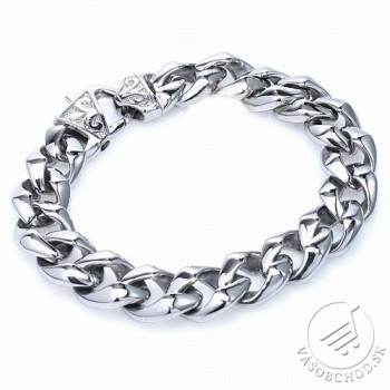 Oceľový náramok - šperky masívne - KMB10048 - VÁŠOBCHOD.sk 9b55f3af421