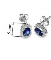Modrá súprava šperkov zo striebra JJJS182