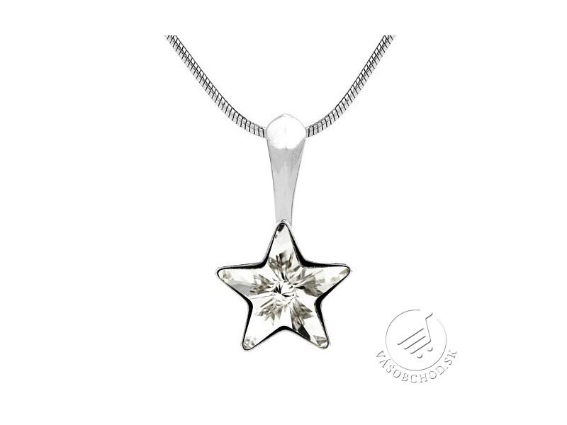 Strieborný prívesok hviezdička s krištáľom Swarovski® Crystals VSW008P ... 95e0532ea07