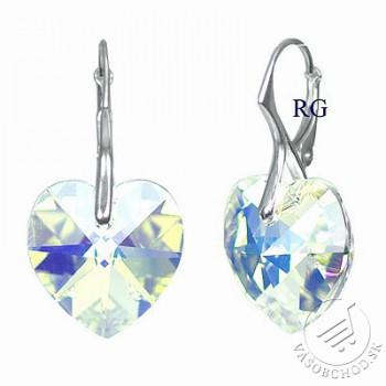 Strieborná náušnice Srdce 18mm Crystal AB so Swarovski® Crystals ... c03687f6dfa