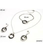 Keramická súprava šperkov so zirkónmi - 237112C