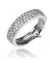 Strieborný prsteň so Swarovski Elements krištáľmi RZMR0960