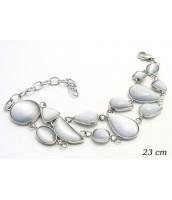 Oceľový náramok s kamienkami - 230622