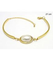 Oceľový náramok perla 234639