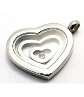 Oceľový prívesok srdce 233213