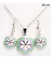Súprava šperkov z ocele kvety 235352