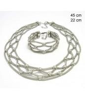 Oceľový náhrdelník + náramok 237222