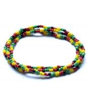 Korálkový RASTA náramok - náhrdelník - DR0104