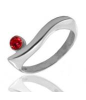 Strieborný prsteň so zirkónmi - 1015R