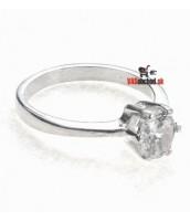 Strieborný prsteň so zirkónom 1306R
