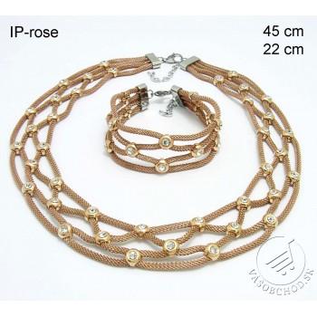Oceľový náhrdelník + náramok 237223