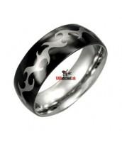 Oceľový prsteň so smaltom