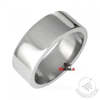 Oceľový prsteň leštený