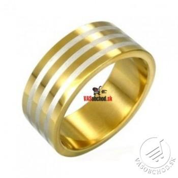 Oceľový prsteň zlátený