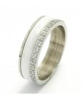 Keramický prsteň so zirkómi 236563B