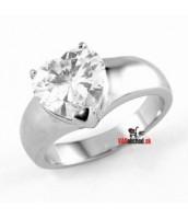 Oceľový prsteň so srdiečkom KRM2099