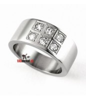 Oceľový prsteň so zirkónmi LJRG634