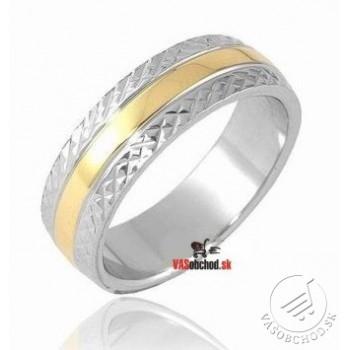 Oceľový prsteň zlátený SSK22