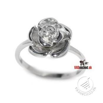Oceľový prsteň - ruža - KMR6080