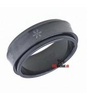Oceľový prsteň čierny