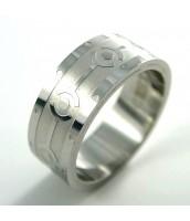 Oceľový prsteň so vzorom - 232674A