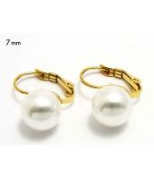 Oceľové náušnice s perličkami 236579A