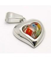 Prívesok z ocele Murano srdce 233444