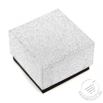 Darčeková krabička na prsteň strieborno-čierna - DKR52