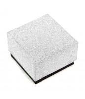 Darčeková krabička na šperky strieborno-čierna - DKR52