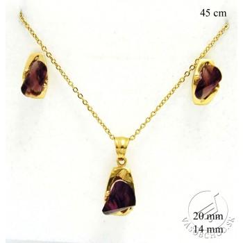 Súprava šperkov s fialovým zirkónom237159F
