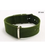 Remienok 20 mm - textilný - zelený - 10RE566G