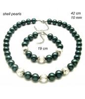Zelená perlová súprava šperkov 239112