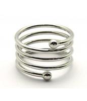 Kovový prsteň špirála 510279