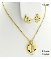 Súprava šperkov z ocele zlátená 239126