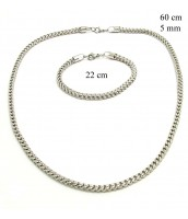 Oceľová súprava šperkov 237309